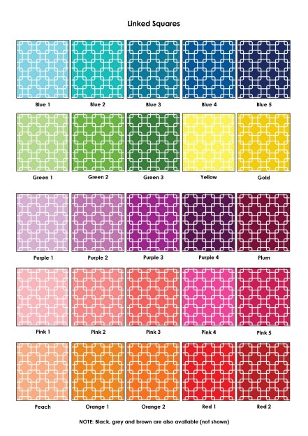 Colour Swatches - Linked Squares