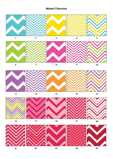Colour Swatches - Mixed Chevrons