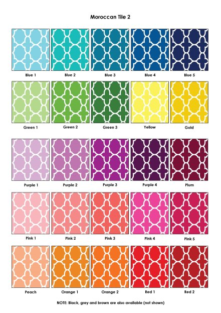 Colour Swatches - Moroccan Tile 2