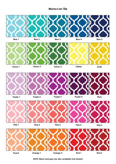 Colour Swatches - Moroccan Tile