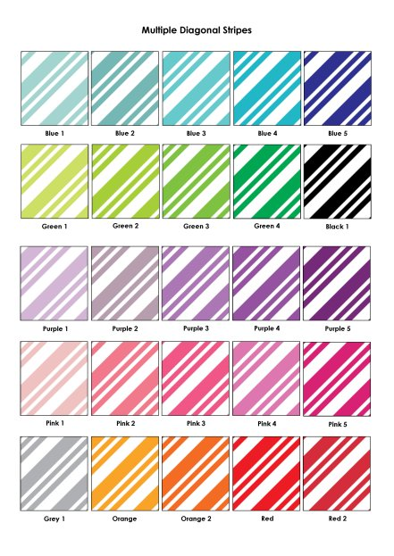 Colour Swatches - Multiple Diagonal Lines