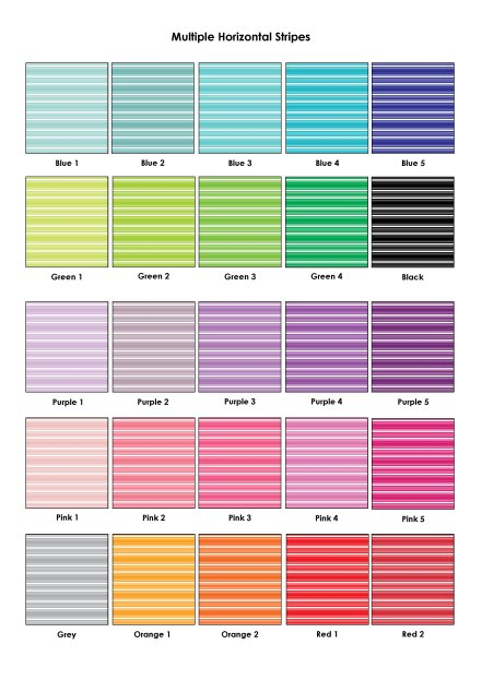 Colour Swatches - Multiple Horizontal Stripes