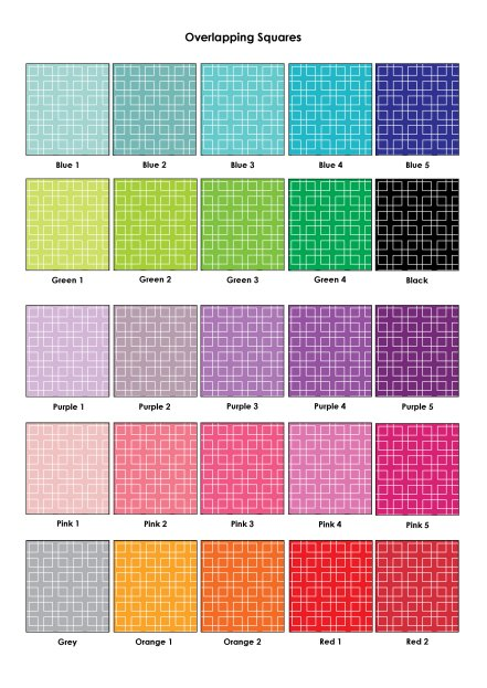 Colour Swatches - Overlapping Squares