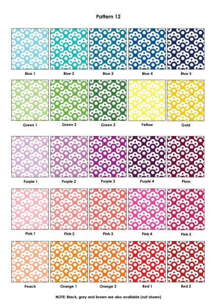 Colour Swatches - Pattern 12