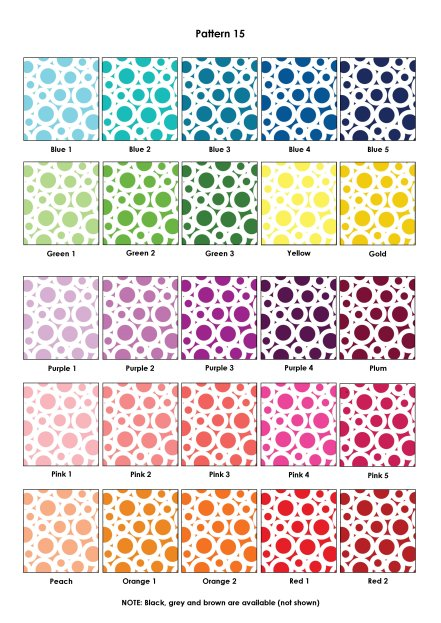 Colour Swatches - Pattern 15