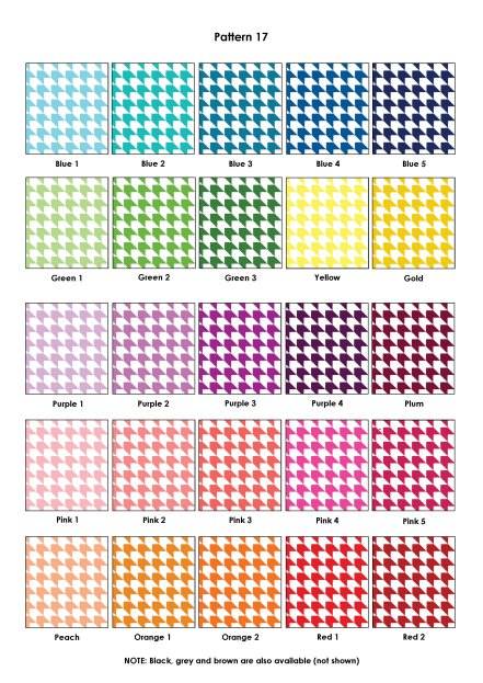 Colour Swatches - Pattern 17