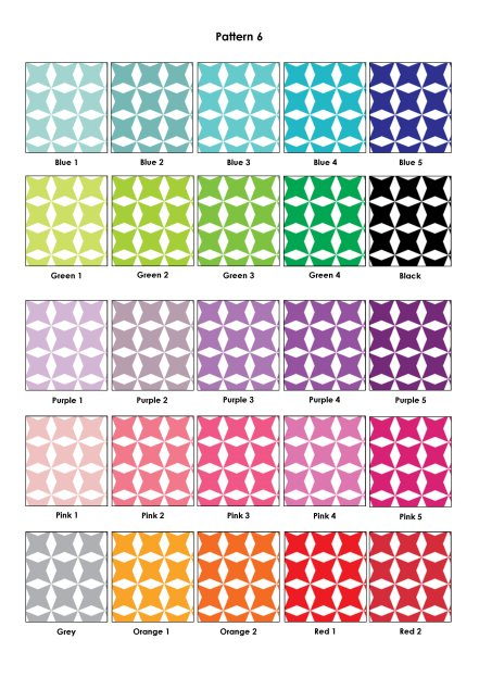 Colour Swatches - Pattern 6