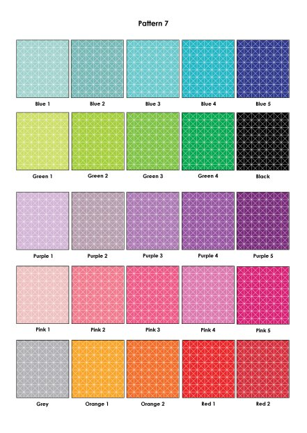 Colour Swatches - Pattern 7