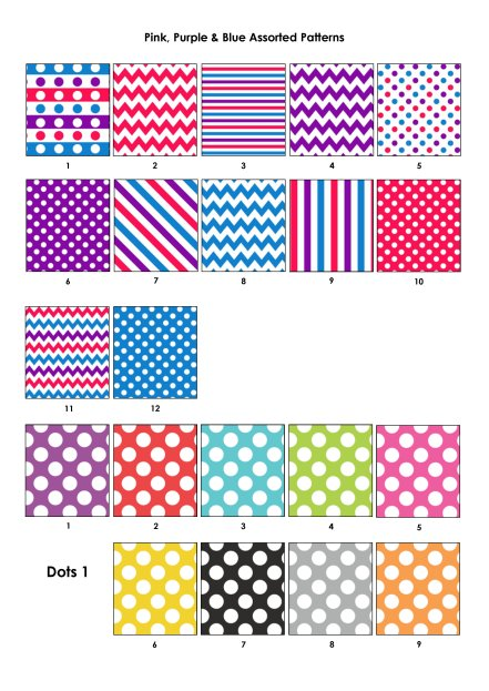 Colour Swatches - Pink, Purple, Red, Dots 1