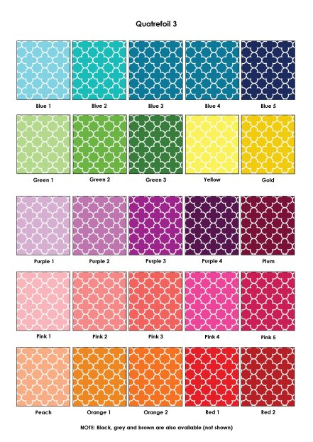 Colour Swatches - Quatrefoil 3