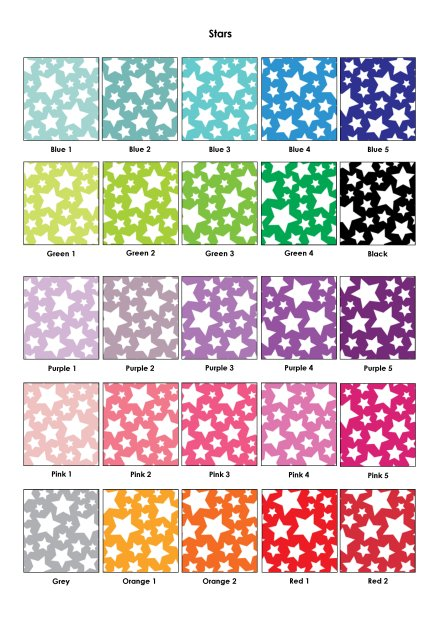 Colour Swatches - Stars