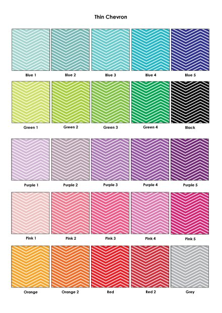 Colour Swatches - Thin Chevron