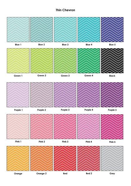 Colour Swatches - Thin Chevron