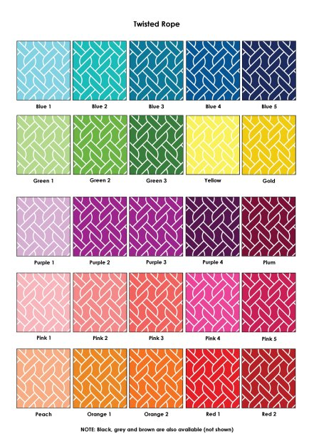 Colour Swatches - Twisted Rope