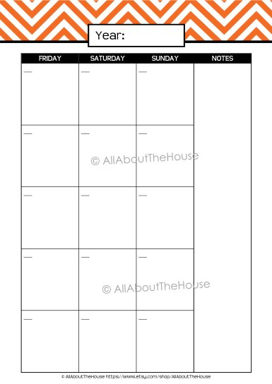 Monthly Calendar 2 page - AllAboutTheHouse
