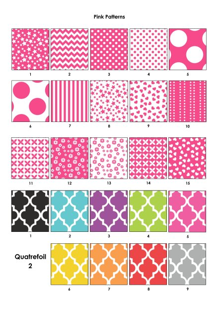 Pink Patterns and Quatrefoil 2