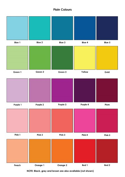 plain colours colour swatches