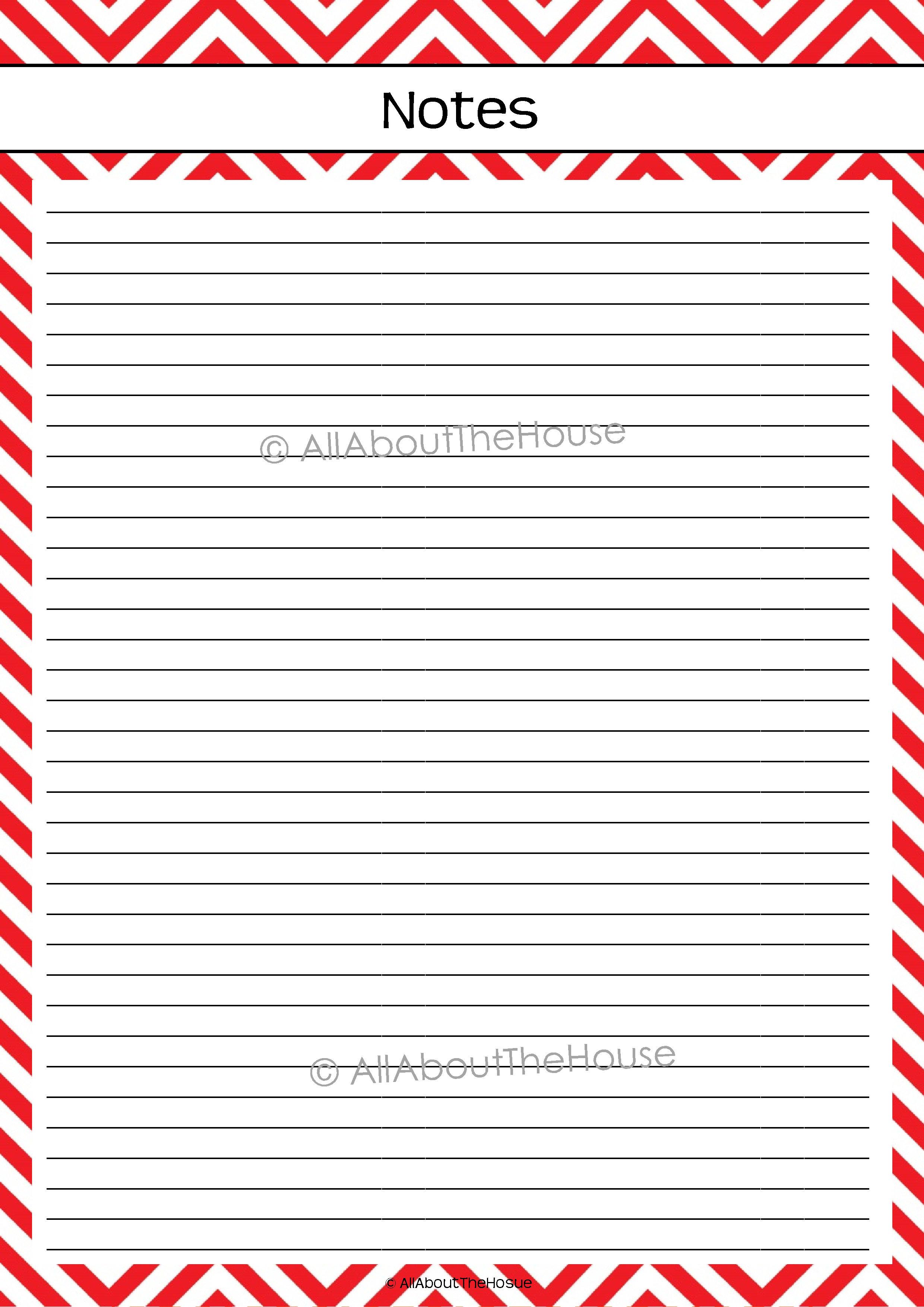 chevron planning printable | AllAboutTheHouse Printables