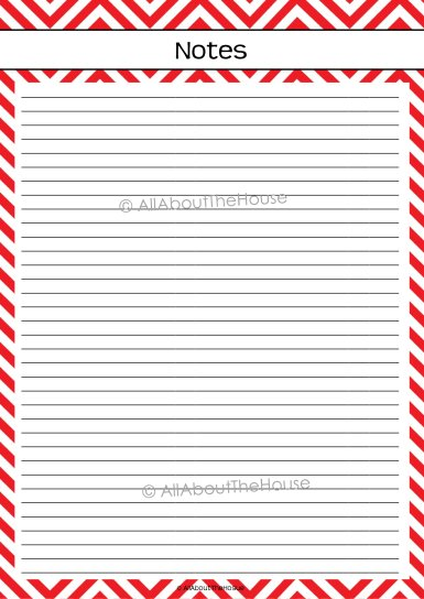 Planner - Note Paper - AllAboutTheHouse