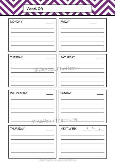 Planner Option 1 Lined - AllAboutTheHouse