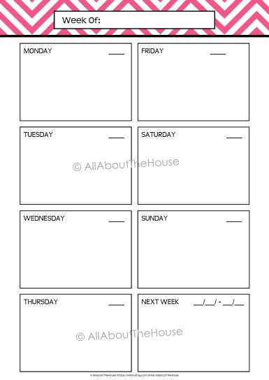 Planner - Option 1 Unlined - AllAboutTheHouse