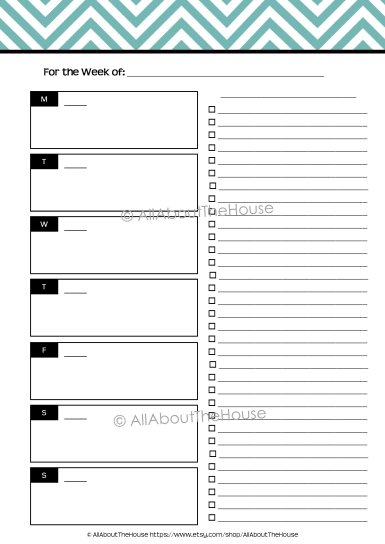 Planner - Option 2 Unlined - AllAboutTheHouse