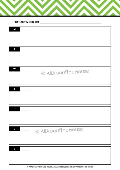 Planner - Option 3 Unlined - AllAboutTheHouse