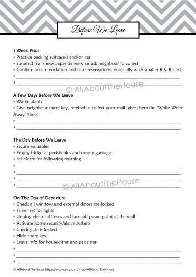 Before we leave checklist(1)