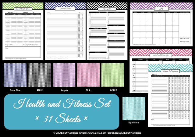 Colour Chart - Health and Fitness