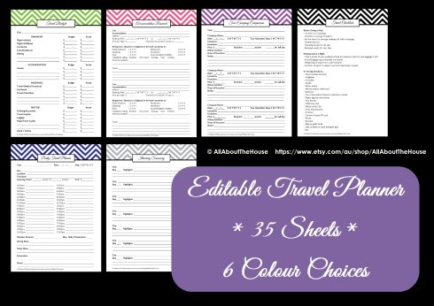 Travel Planner - AllAboutTheHouse - Colour Chart
