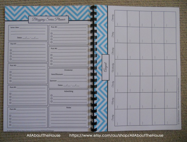 Chevron blog planner printable 3