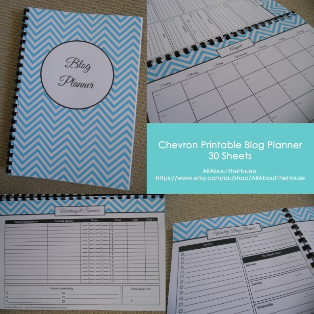 Chevron Printable Blog Planner