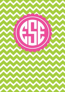 Chevron Binder Cover Monogram Printable