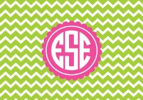 Monogram wallpaper chevron