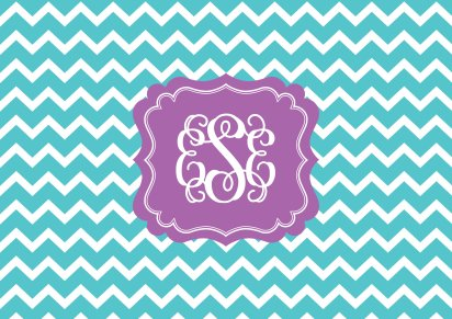 Chevron Monogram Wallpaper