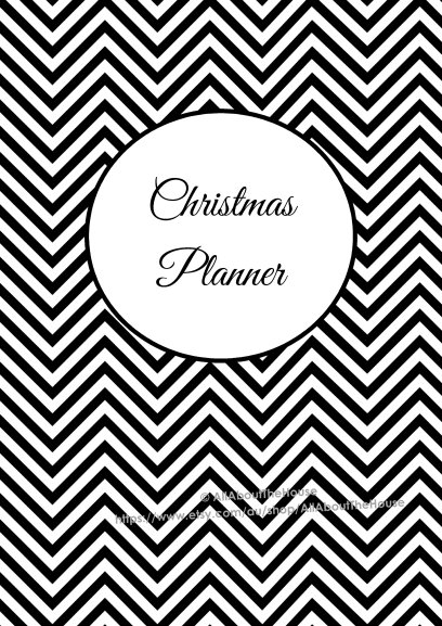 Christmas Planner Cover printable organize holiday organizer countdowns checklists to do gift planning