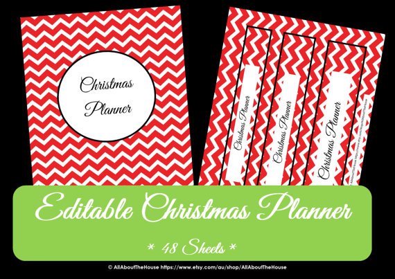 Christmas Planner Red