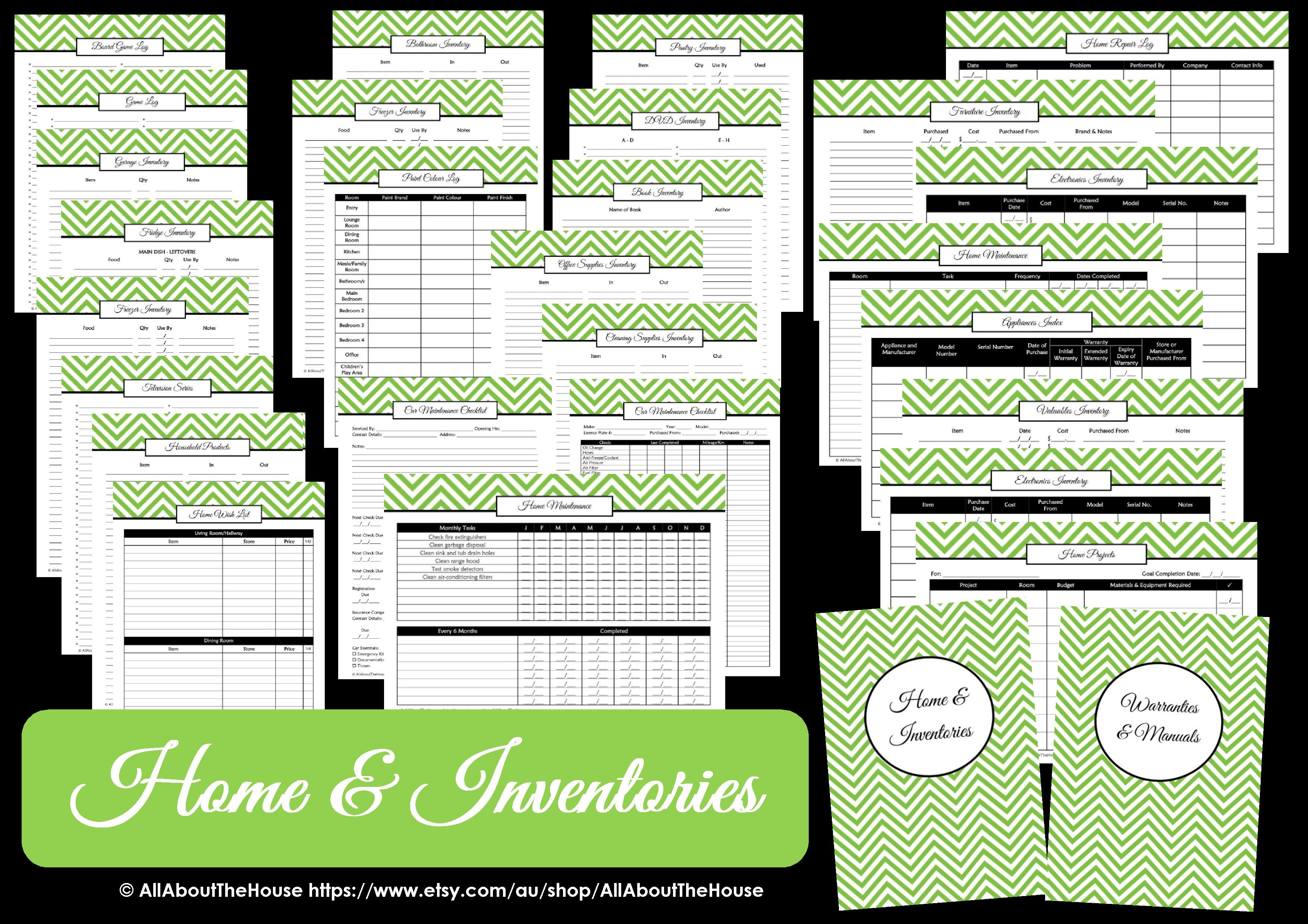 photo regarding Free Printable Household Binder identify Household Inventories Loved ones Binder - All Relating to Planners