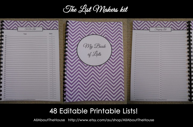 List makers kit - allaboutthehouse