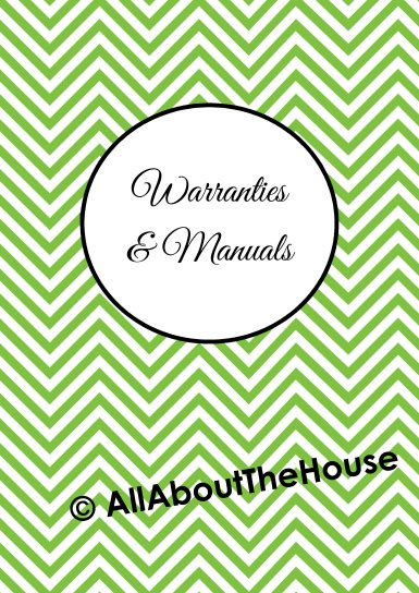 Warranties & Manuals - Cover and Spine - Green(2)