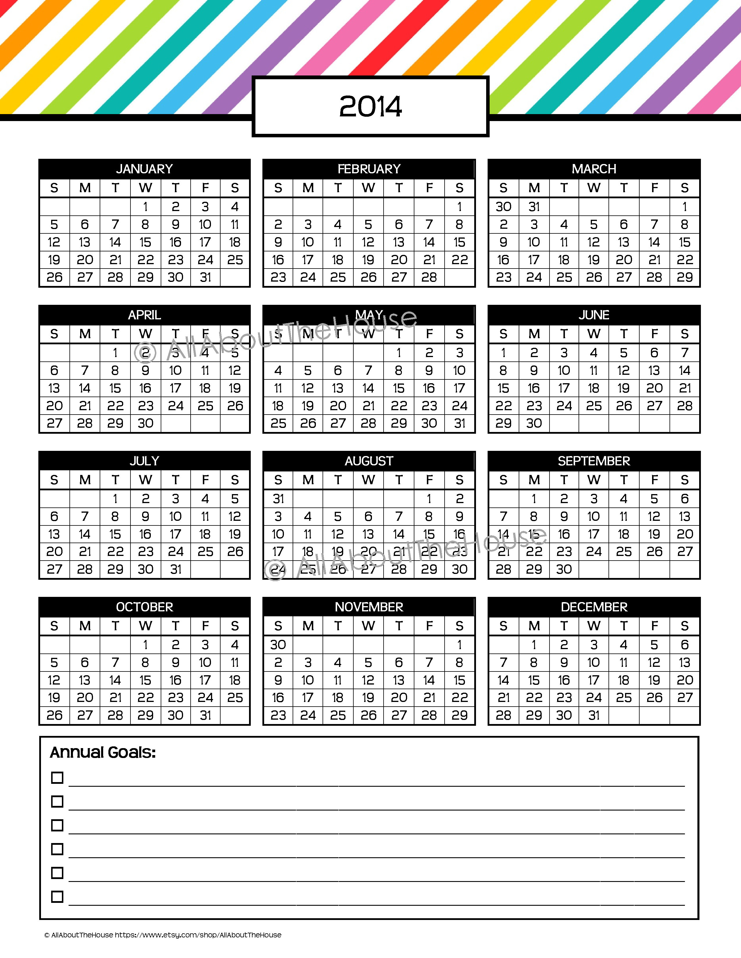 2015 calendar printable one page with holidays militaryalicious my 2015 printable rainbow daily planner allaboutthehouse printables saigontimesfo