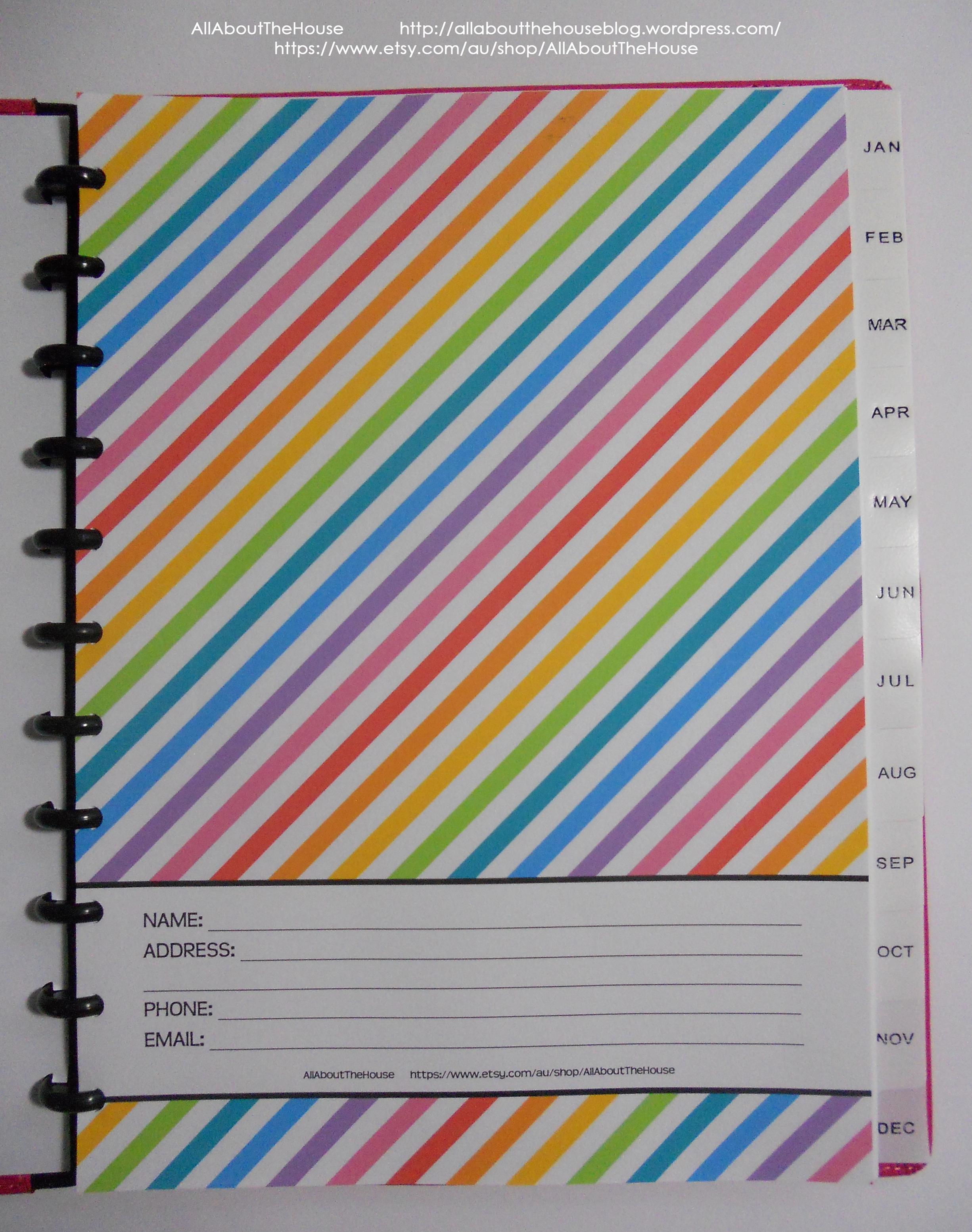 Belongs to rainbow planner