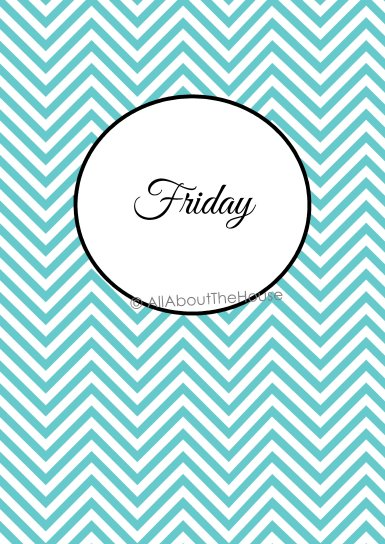 Friday Binder Cover - School Planner