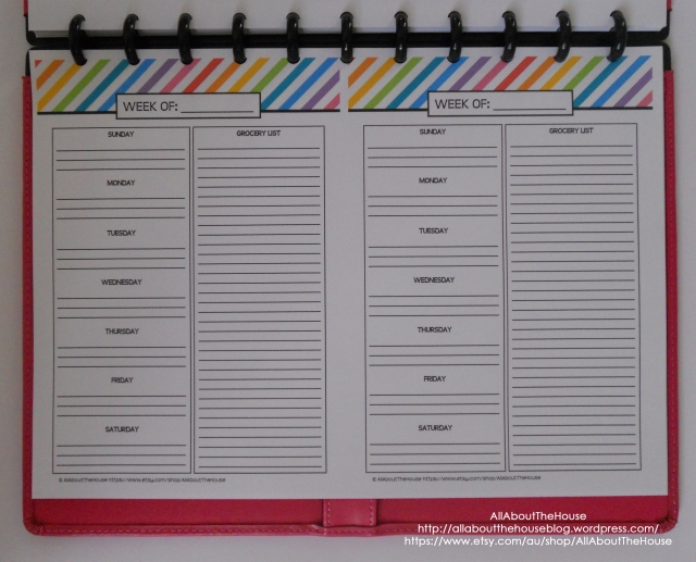 Meal Planning - Rainbow Planner A5