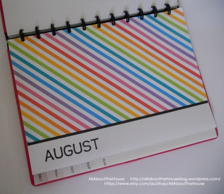 monthly divider printable planner