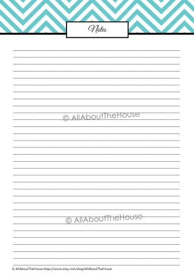 Note Paper - L Blue