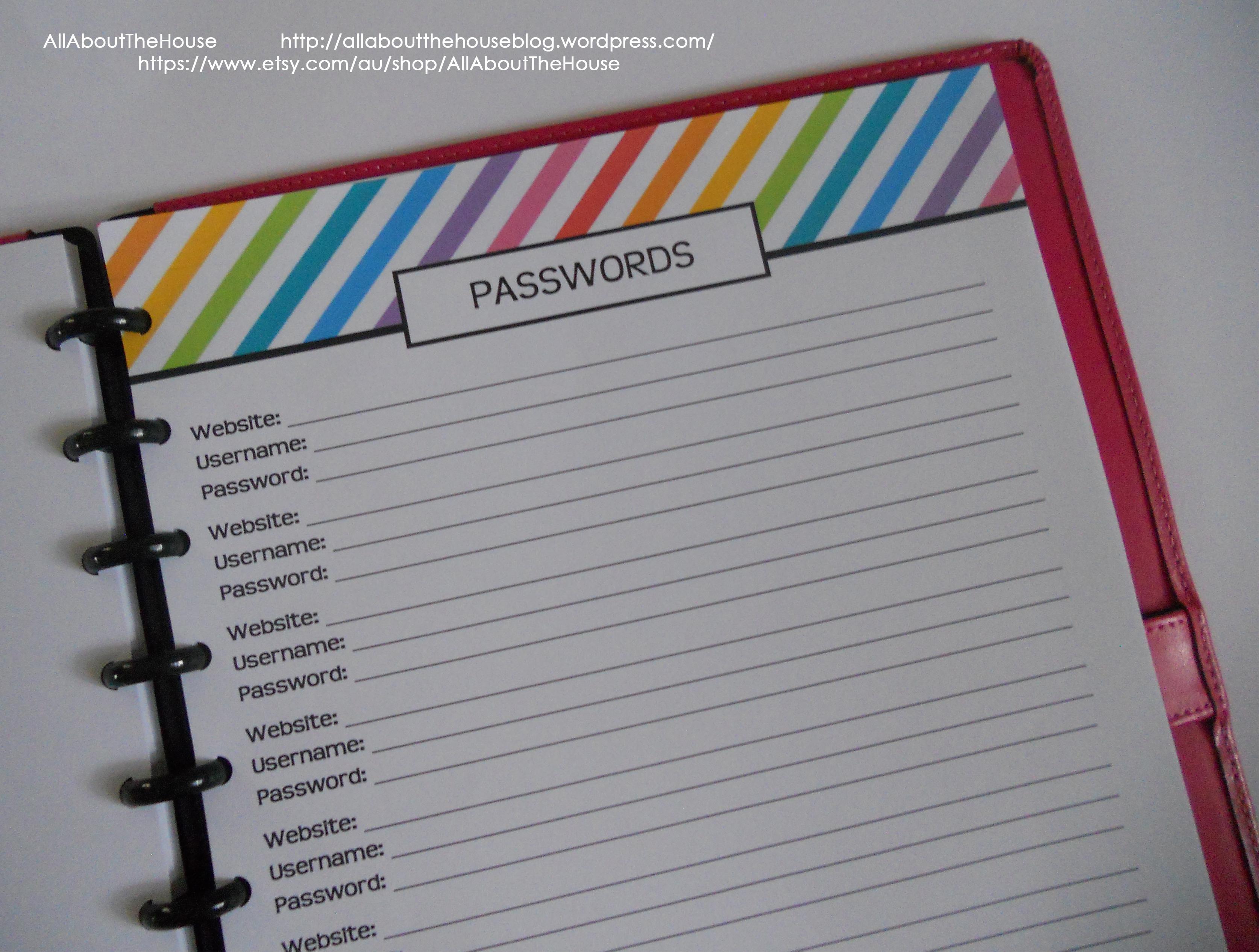 Password printable rainbow