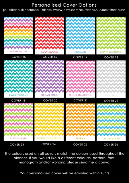 Planner Cover Options - Rainbow Chevron