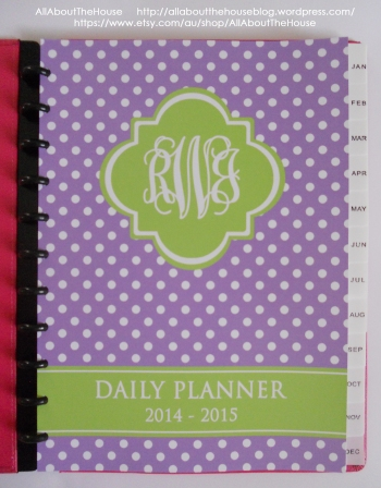 polka dot planner cover