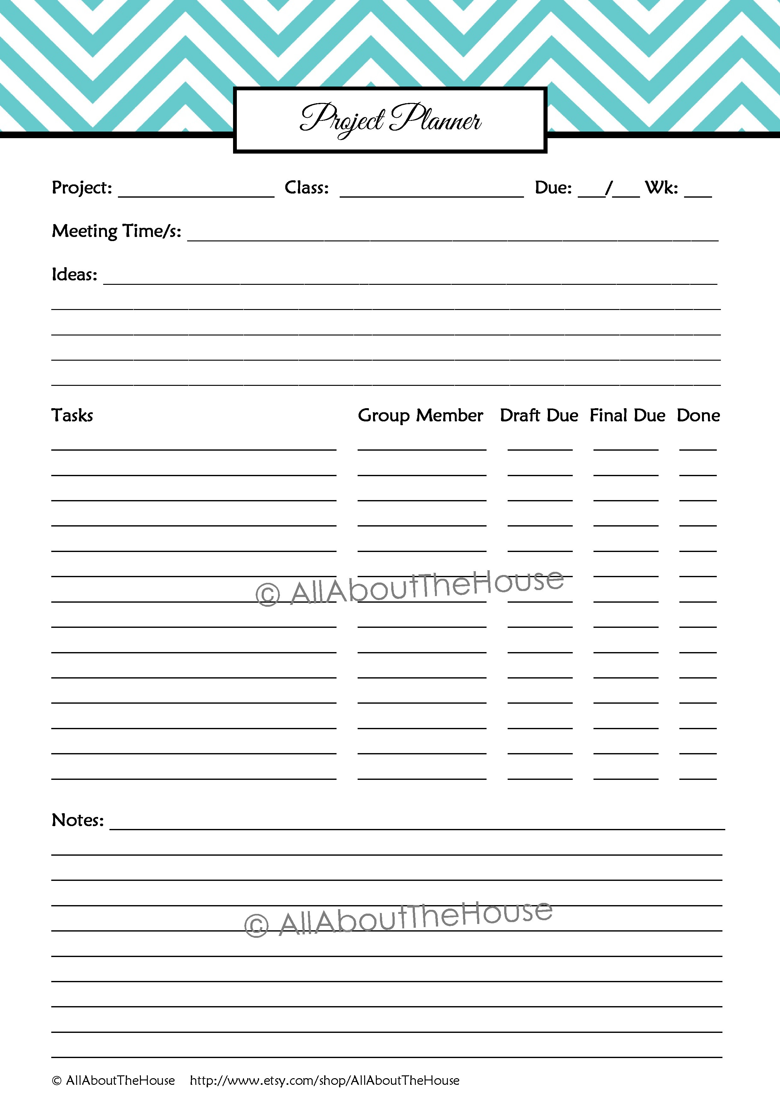 Student Planner – Editable | AllAboutTheHouse Printables